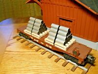 O Gauge O Scale Handmade Pallets with handmade metal pipe load for flat cars