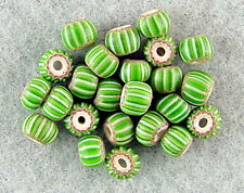 TRADE-BEADS-VENETIAN-RARE-ANTIQUE-4-LAYER-GREEN-CHEVRON-BEAUTIFUL-COLOR-VARIETY