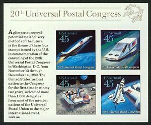 #C126 45c 20th Postal Congress, Souvenir Sheet, Mint **ANY 5=FREE SHIPPING**