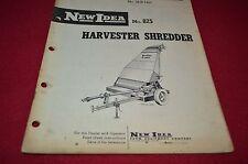 New Idea 825 Harvester Shredder Operator's Manual DCPA8