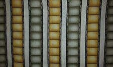 LINED VALANCE 42X12 DIRECTORS LIGHTS CAMERA ACTION MOVIE FILM STRIP REEL