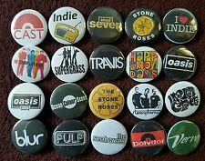 90's Indie Britpop Button Badges x 20. Pins. Wholesale. Collector. Bargain :0)