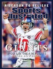 2008 Sports Illustrated Eli Manning New York Giants No Label Super Bowl XLII NFL
