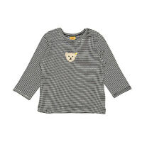 74-116 0006811 Basic NEU STEIFF® T-SHIRT Shirt Langarmshirt  Weiß Bär Gr