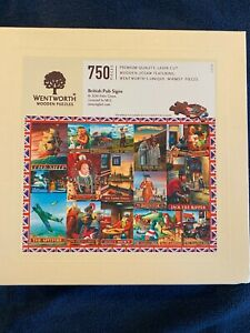 Wentworth Wooden Puzzles, British Pub Signs, 750 pieces