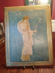 Artemis Greek Goddess Wall Plaque Rectangular12x15 Vintage