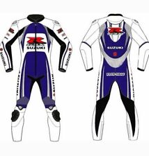 SUZUKI-GSXR MOTORBIKE MOTORCYCLE LEATHER -1 Piece SUIT RACING BIKER -MotoGp