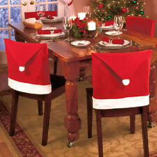 Christmas Chair Covers Santa Claus Red Hat Dinner Supply Xmas Decor 6pcs/set