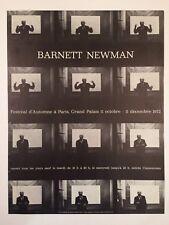 AFFICHE CIESLEWICZ EXPOSITION BARNETT NEWMAN GRAND PALAIS 1972