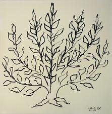 "RARE HENRI MATISSE PLATE SIGNED LITHOGRAPH ""LE BUISSON"" (THE BUSH) 1951"