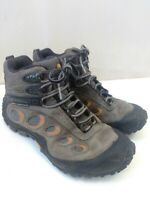 Merrell Continuum Vibram Sole Ankle Leather Lace Up Hiking Boots Mens 9.5 M Gray
