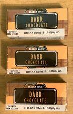9 TRADER JOES Belgium DARK CHOCOLATE Candy Bars 1.75 OZ/Pack
