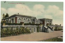 1910 Postcard of a Large Mansion at San Mateo County CA