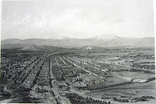 MEXICO CITY METROPOLITAN CATHEDRAL ANGEL INDEPENDENCE ~ 1876 Art Print Engraving