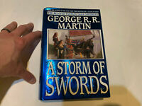 george rr martin A GAME OF THRONES STORM OF SWORDS HARDCOVER NOVEL BOOK