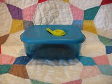 TUPPERWARE Vent N Serve Small Shallow 1 Cup Peacock Blue Microwave 3387 Rock NEW