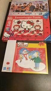 Lot de 3 puzzles pour enfants de 6 ans et plus (Violetta, Hello Kitty, Simpsons)
