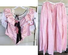 Civil War Reenactment Pink Summer Ballgown Dress Scoop Neck Costume 1860