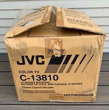 Vtg JVC C-13810 Retro Gaming TV Television Set w/ BOX Sealed Remote 13 Inch CRT