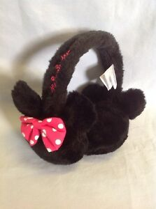 Disney Minnie Mouse Earmuffs Pink White Polka Dot Bow Girls 4-16