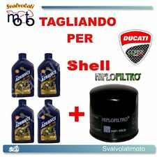 TAGLIANDO FILTRO OLIO + 4LT SHELL ADVANCE ULTRA 10W40 DUCATI 696 MONSTER 2009