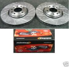 SAAB 9-3TURBO AERO DRILLED GROOVED BRAKE DISC +PADS 314