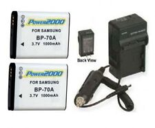 2 Batteries + Charger for Samsung ECAQ100ZBPRUS ST71 ST6500 MV800 ST66 ST68 ST75