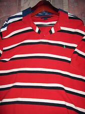 RALPH LAUREN SHORT SLEEVE POLO SHIRT M Red White Black AUTHENTIC NEW YORK1