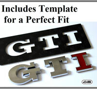 GTI Car Badge Emblem Sticker VW Golf Polo MK4 MK5 MK6 MK7 Boot Lid Tailgate 18