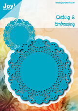 JOY Crafts Die Taglio Embossing Stencil Doily ROUND 6002/0478 100 mm x 100 mm