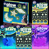 Glowstars Glow In The Dark Stickers Stars - Blue Pink Glitter Space Stars Moon