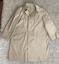 Men's Tan London Fog Maincoats Trench Coats Size 44 Long