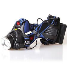 2000lm CREE Xm-l T6 LED Zoomable Adjust Focus AA Battery Headlamp Light Torch