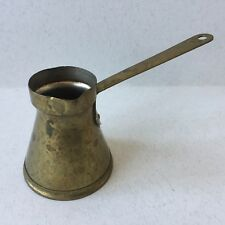 Vintage Serbian Brass Small Turkish Coffee Pot - ISHRA, Novi Pazar