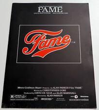 Partition sheet music PITCHFORD / GORE : FAME * 80's Alan Parker