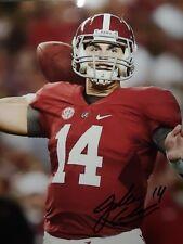 Jake Coker Alabama Crimson Tide Hand Signed 8x10 Autographed Photo COA