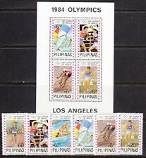 PHILIPPINES STAMPS #1699-1704, 1705 — OLYMPICS — COMPLETE SET + S/S — MINT