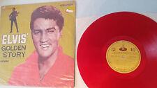 ELVIS PRESLEY GOLDEN STORY (GOLDEN BOY) Original 1960s TAIWAN LP RED VINYL