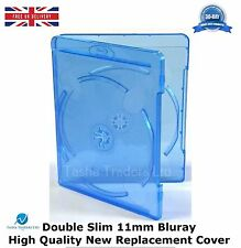 50 Double Slim 11 mm Blu ray Case Spine High Quality New Replacement Cover