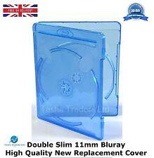 200 DOUBLE SLIM 11 mm Blu Ray caso spina dorsale di alta qualità NUOVO SOSTITUZIONE COPERCHIO