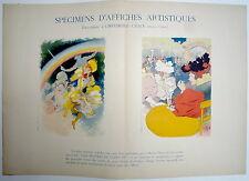 Affiche.  Les Maitres de l'Affiche. Spécimens d'affiches artistiques. Vers 1895