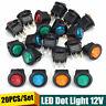 20Pz/Kit Interruttore A Pulsante ON/OFF LED Luminoso 20A 12V Per Auto Moto