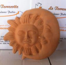 maschera soleluna in terracotta cm 40x40