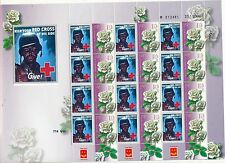 ISRAEL 2015 USA WORD WAR 2 ARMY RED CROSS POSTER SHEET  MNH