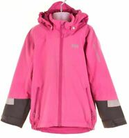 HELLY HANSEN Girls Rain Jacket 5-6 Years Purple Nylon  GU08