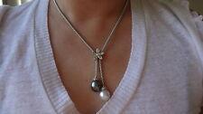 South Sea Pearl Diamond Necklace 18K white gold