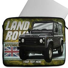 Personalised Laptop Cover LAND ROVER DEFENDER Neoprene Sleeve Classic Car CL27