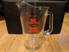 Vintage Miller High Life Heavy Duty Glass Beer Pitcher Enjoy Life With High Life