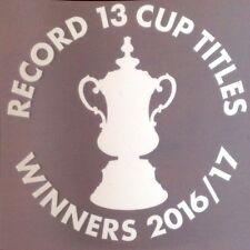 Arsenal FA Cup Ganadores 2016-17 coinciden con los detalles de la transferencia con logotipo en el pecho