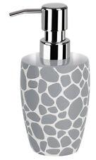 Spirella Darwin Pebble Grey Soap Lotion Dispenser Bathroom Accessory Ceramic